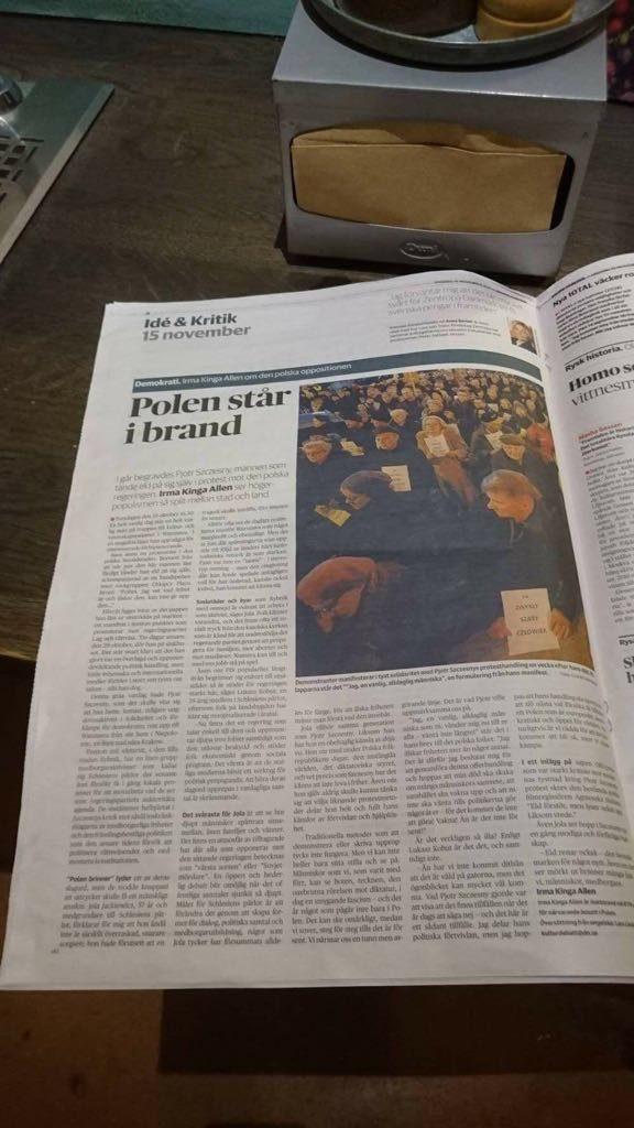 Dagens Nyheter, Irma Allen - Polen – ett land som står i brand