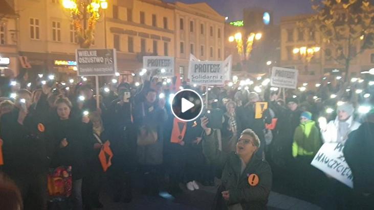 Strajk Nauczycieli - Rybnik, kwiecień 2019 r.